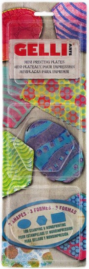 Gelli Printing Plates - Set Mini`s - Oval, Hexagon, Rectangle