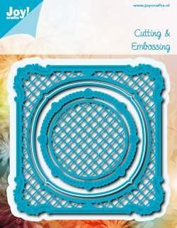 Noor! Design - Blauwe mal - Vierkant met cirkel
