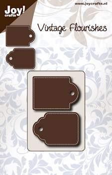 Noor! Design - Vintage Flourishes - Dubbele Tag
