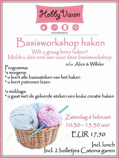 Basisworkshop Haken - Zaterdag 6 februari 2016