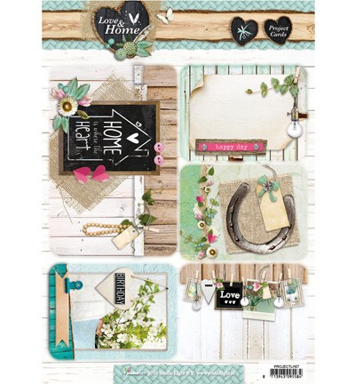 Project Cards A4 - Studio Light - Love & Home PROJECTLH07