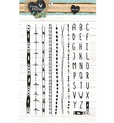 Clearstamp - Studio Light - Love & Home STAMPLH127