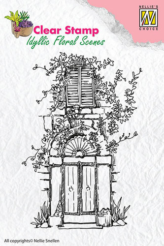 Clear Stamps Nellie Snellen - Door with bow & window