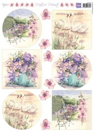 Knipvel Marianne Design - Mattie`s Mooiste - swans