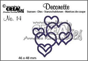 Stansmal - Crealies - Decorette no 14 - Harten