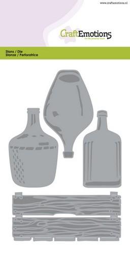 PRE-ORDER 2 - CraftEmotions Die - krat, flessen groot Card 10,5x14,8cm
