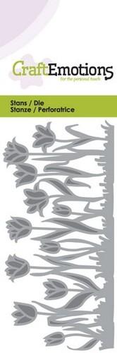 CraftEmotions Die - tulpenrand Card 5x10cm