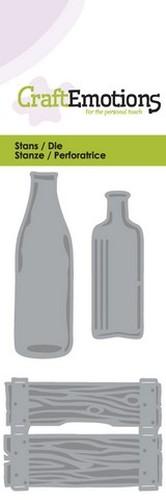 CraftEmotions Die - krat en flessen Card 5x10cm