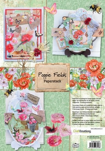 PRE-ORDER 2 - CraftEmotions Paper stack Poppie fields 11 vel A4
