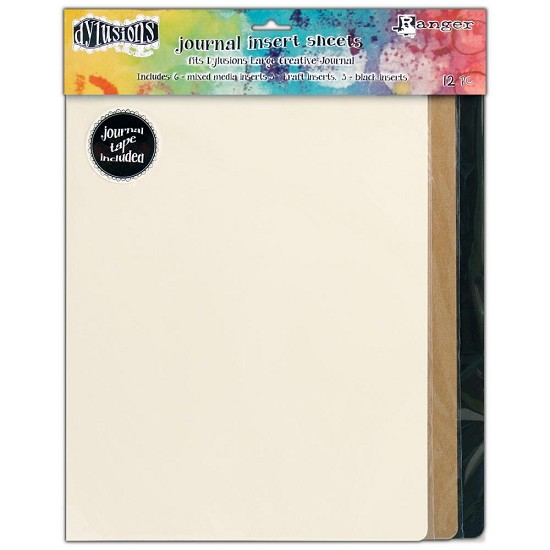 Dyan Reaveley`s - Dylusions Journal -  Inserts Assortment 12/Pkg - Large