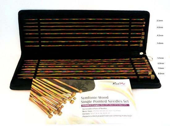 KnitPro - Rechte Naalden hout - 40cm SET