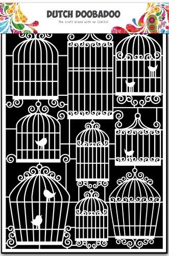 Dutch Doobadoo - Dutch Paper Art - Vogelkooitjes - A5