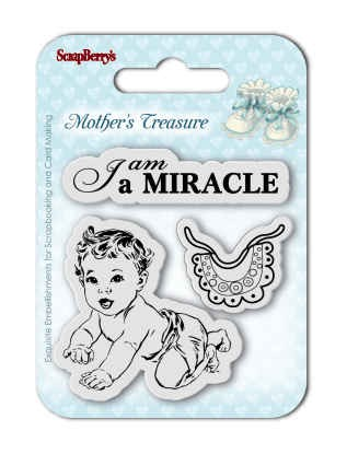 Clearstamp ScrapBerry`s - Set of Stamps - Mother`s Treasure - Miracle