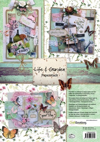 CraftEmotions - Paper stack - Life & Garden 11 vel A4