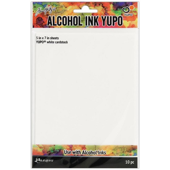Tim Holtz - Alcohol Ink White Yupo Paper - 10 Sheets