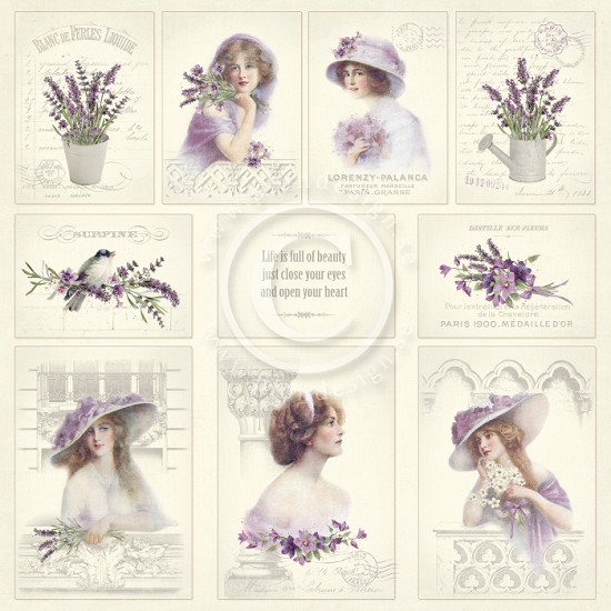 Scrappapier PION Design - Scent of Lavendel - Images of the Past