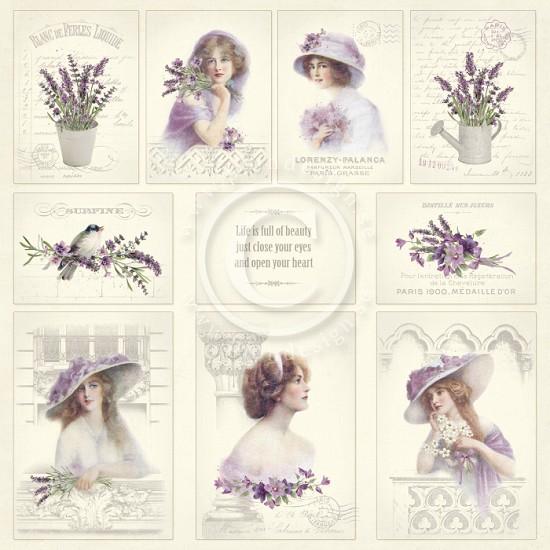 Scrappapier PION Design - Scent of Lavendel - Images of the Past