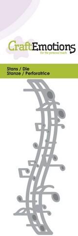 Stansmal - CraftEmotions - Muzieknoten balk