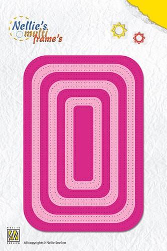 Stansmal Nellie Snellen - Multi Frame Die - straight dotted rectangle MFD088