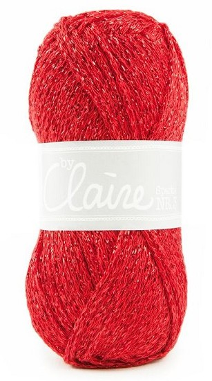 Haakkatoen ByClaire nr 3 - Sparkle - 316 Rood