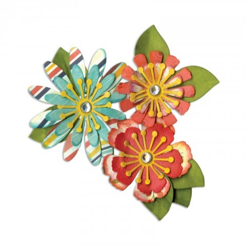 Sizzix - Thinlits Die Set - Mix & Match Flowers