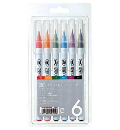 ZIG - Clean Colors - Real Brush - Set á 6 stuks