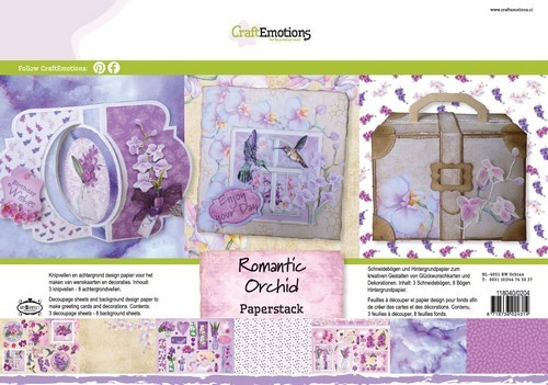 Paperpad CraftEmotions - Romantic Orchid