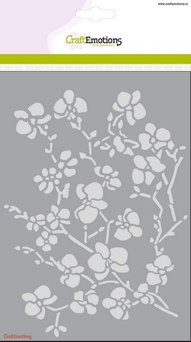 Mask stencil CraftEmotions - Romantic Orchid - Orchidee tak