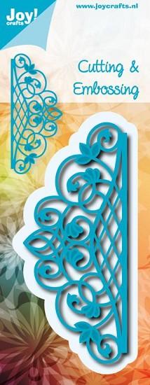 Noor! Design - Cutting & Embossing stencil - Blauwe mal - Randmal ovaal
