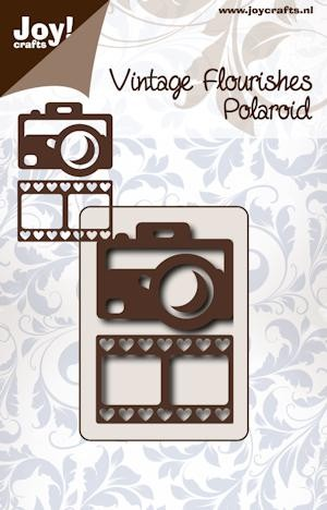 Noor! Design - Cutting stencil - Vintage Flourishes - Polaroid camera met films