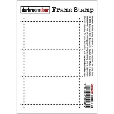 Darkroom Door stamps - Frame Stamp Postal 3 UP