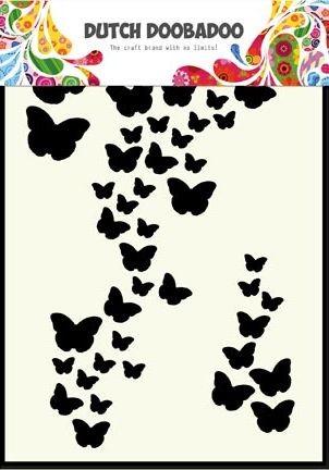 Dutch Doobadoo - Dutch Mask Art - A6 Butterfly