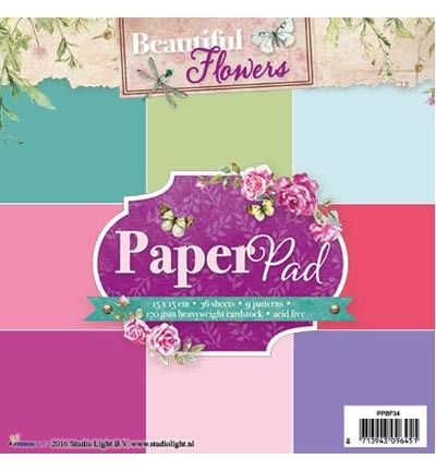 Studio Light - Paperpad - Beautiful Flowers UNI