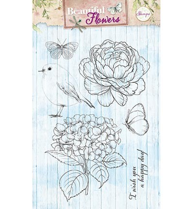 Studio Light - Clearstamp - Beautiful Flowers STAMPBF143
