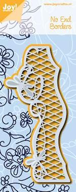 Noor! Design - Cutting & Embossingstencil - No End Borders - Ruitjes