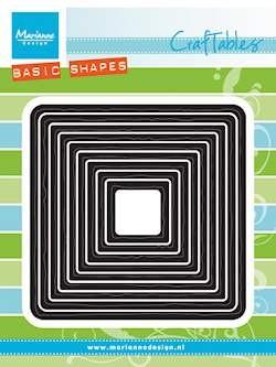 PRE-ORDER 5 - AUG - Marianne Design - Craftables - Basic Distressed Square