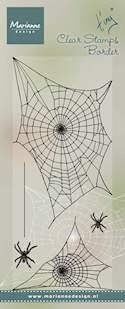 Marianne Design - Clearstamp - Tiny`s border spider web