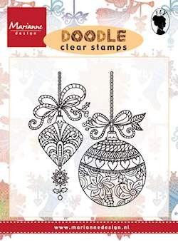PRE-ORDER 5 - AUG - Marianne Design - Clearstamp - Doodle Christmas Decoration