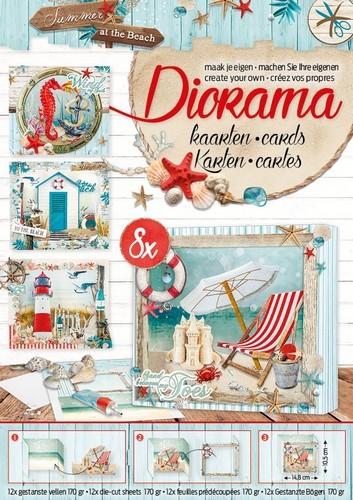 Studio Light -  Diorama Die-Cuts block A4 - Summer at the Beach 02