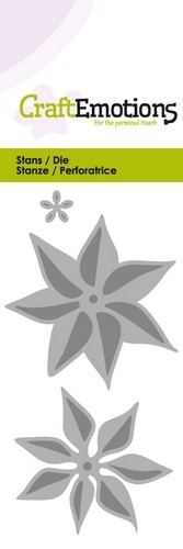 PRE-ORDER 2 - Stansmal CraftEmotions - Bloem kerstster