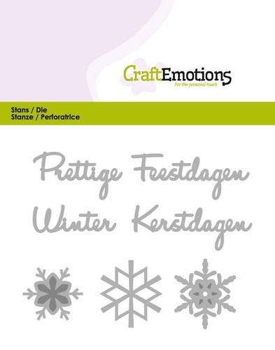PRE-ORDER 2 - Stansmal CraftEmotions - Prettige feestdagen