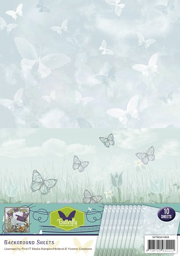 Achtergrondpapier - Yvonne Creations - Butterfly Collection