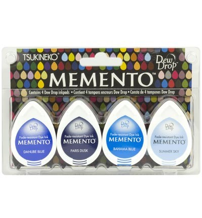 Stempelinkt - Memento - Dewdrop - Set 4pak Ocean