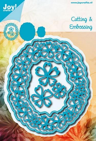 Noor! Design - Blauwe mal - Ovaal met bloemen