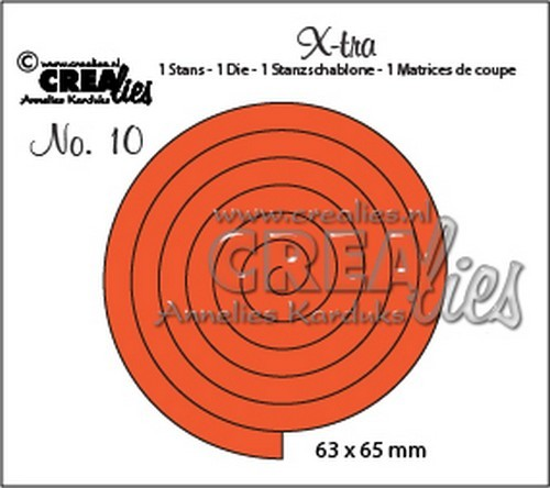 Stansmal - Crealies - X-tra - no 10 Spiraal