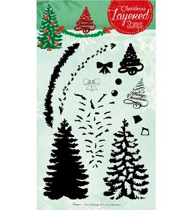 Studio Light - Clearstamp - Christmas Layered Stamps 07