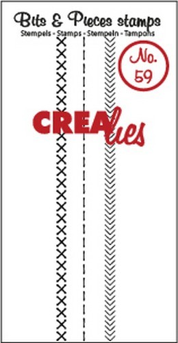 Clearstamp Crealies - Bits & Pieces - No 59 Stitch A