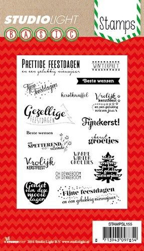 Clearstamp Studio Light - Basic Stamps - nr 155 Kerst Teksten NL