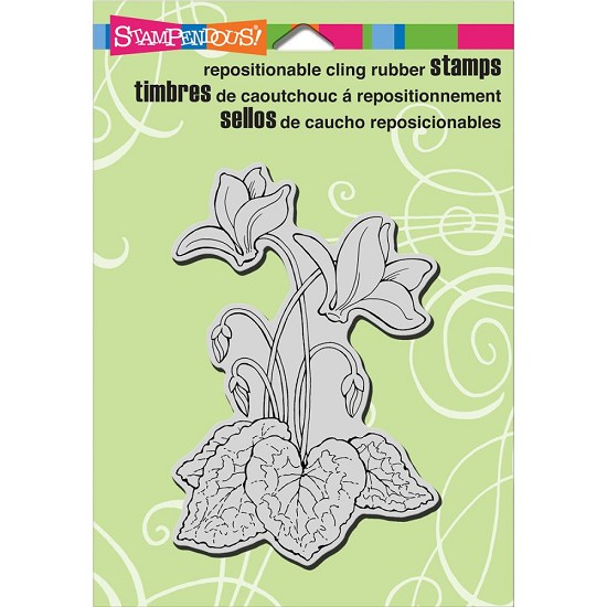 Cling stamp - Stampendous - Cyclamen