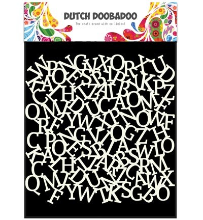Dutch Doobadoo - Dutch Mask Art - 15 x 15 cm - Alfabet